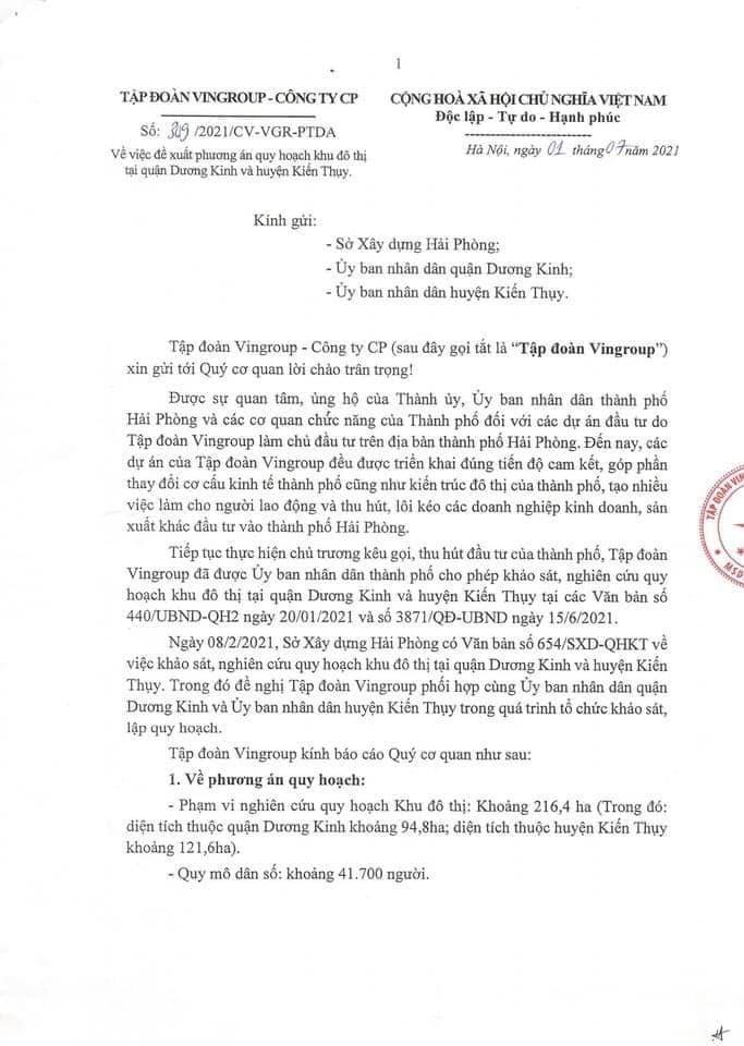 Bao cao quy hoach Vinhomes Duong Kinh Kien Thuy